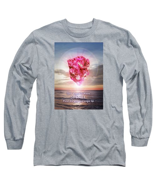 August Birthstone Spinel Long Sleeve T-Shirt