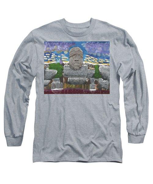 August  Olmec Head Long Sleeve T-Shirt
