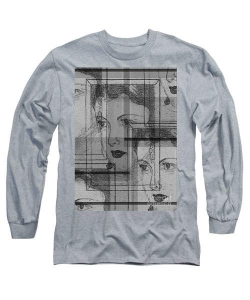 Aunt Edie Black And White Print Long Sleeve T-Shirt