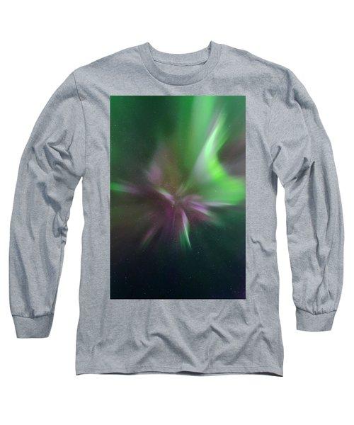 Aurora Borealis Corona Long Sleeve T-Shirt