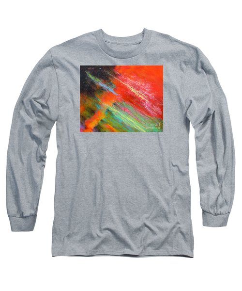 Fantasies In Space Painting Series. Title. Aurora De Fiero. Long Sleeve T-Shirt