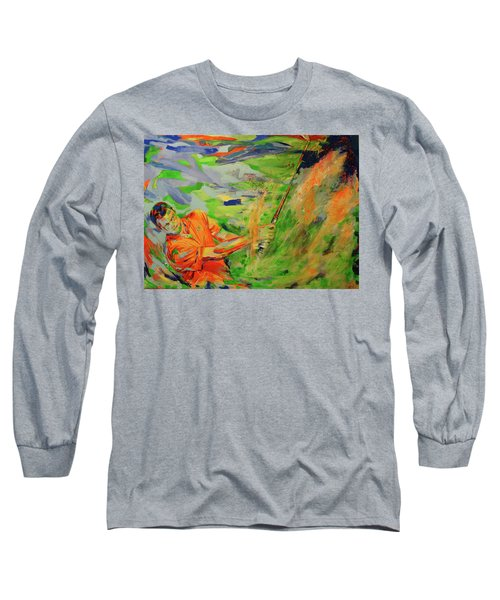 Aus Dem Bunker Spielen   Bunker Shot Long Sleeve T-Shirt by Koro Arandia