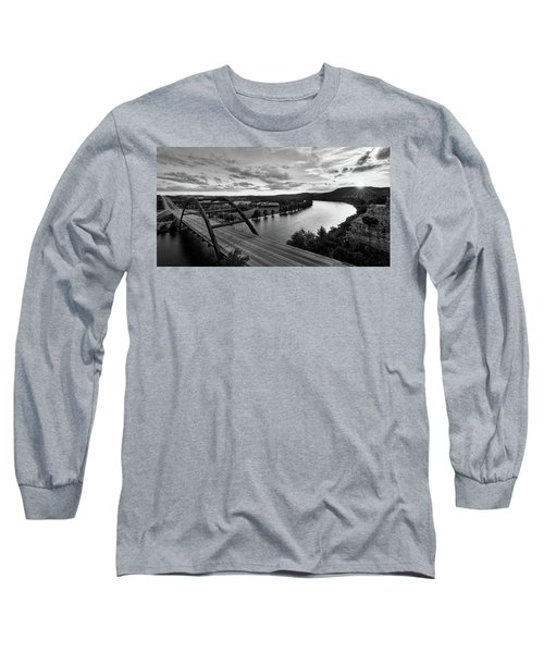Austin 360 Pennybacker Bridge Sunset Long Sleeve T-Shirt