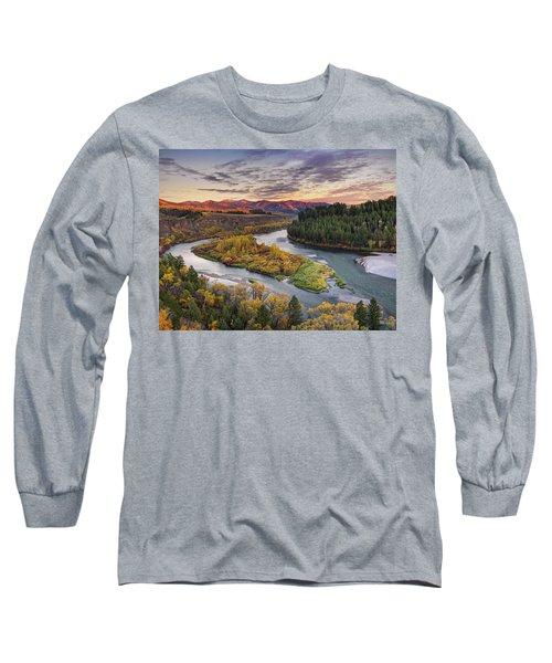 Autumn Along The Snake River Long Sleeve T-Shirt