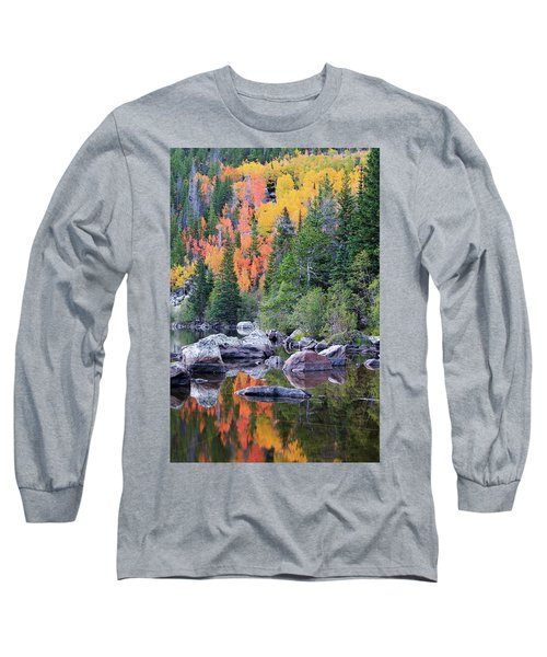 Autumn At Bear Lake Long Sleeve T-Shirt by David Chandler