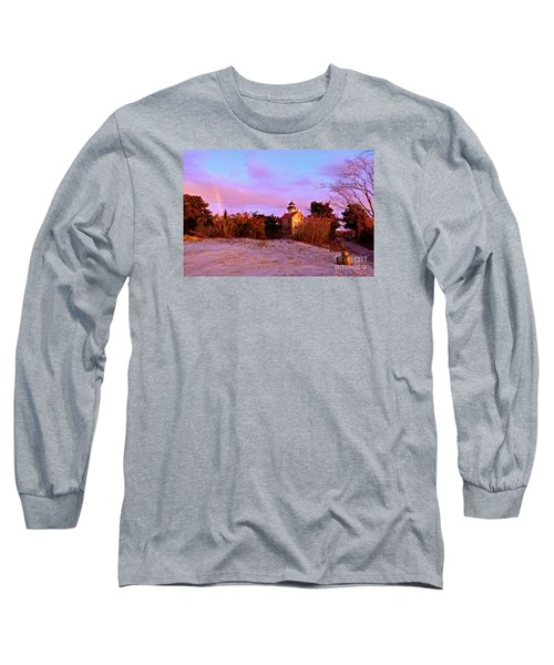Long Sleeve T-Shirt featuring the photograph Autumn At East Point Lighthouse by Nancy Patterson