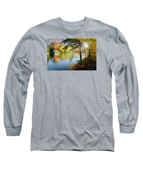Autumn At Tilley Pond Long Sleeve T-Shirt by Diana Angstadt