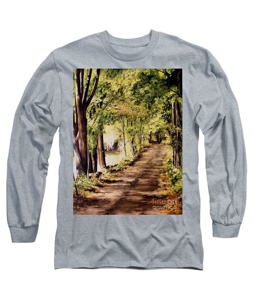 Autumn Begins In Underhill Long Sleeve T-Shirt by Laurie Rohner