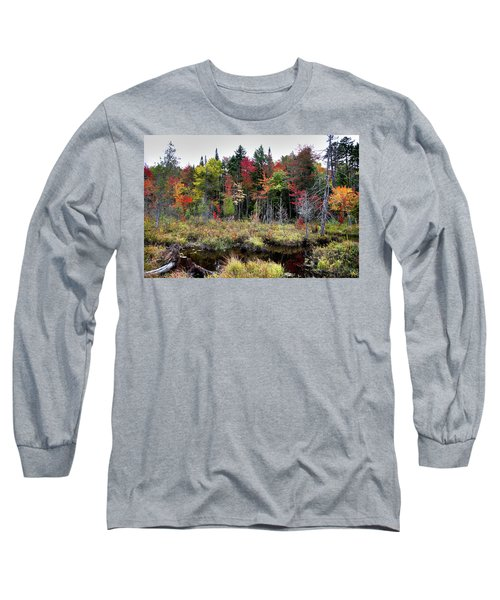 Long Sleeve T-Shirt featuring the photograph Autumn Color In The Adirondacks by David Patterson