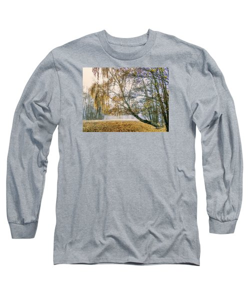 Autumn Colorful Birch Trees Paint Long Sleeve T-Shirt by Odon Czintos