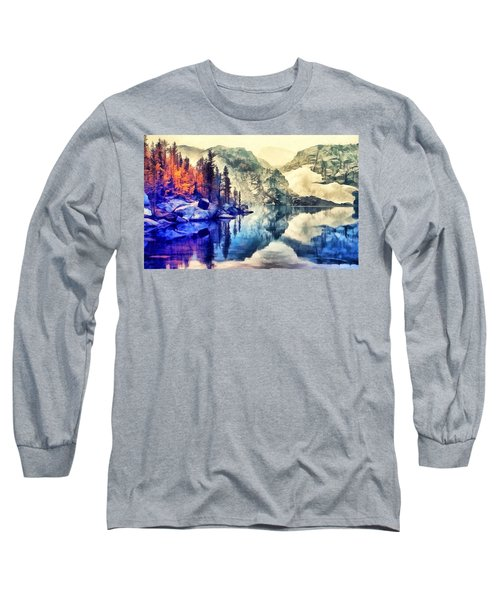 Autumn Day On The Lake. Long Sleeve T-Shirt