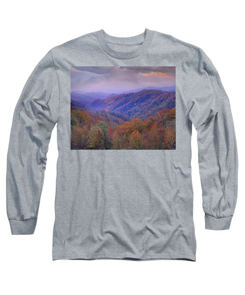 Autumn Deciduous Forest Great Smoky Long Sleeve T-Shirt