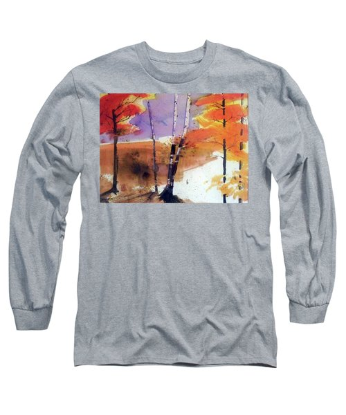 Long Sleeve T-Shirt featuring the painting Autumn by Ed Heaton