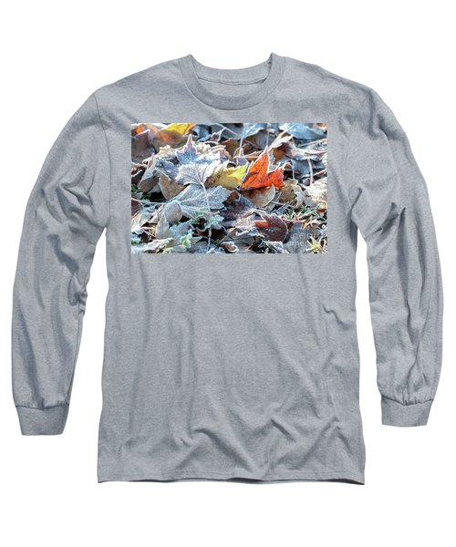 Long Sleeve T-Shirt featuring the photograph Autumn Ends, Winter Begins 3 by Linda Lees