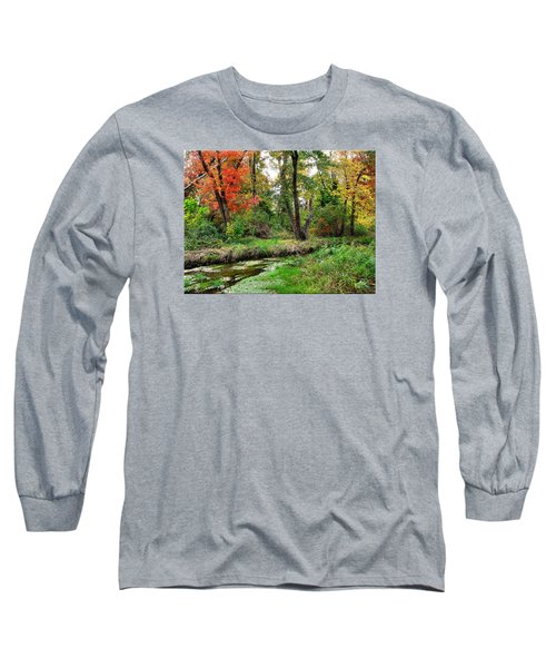 Autumn In Bloom Long Sleeve T-Shirt by Mikki Cucuzzo