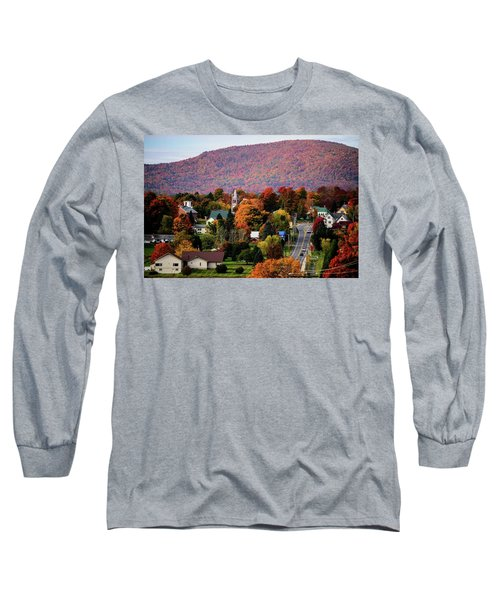 Autumn In Danville Vermont Long Sleeve T-Shirt by Sherman Perry