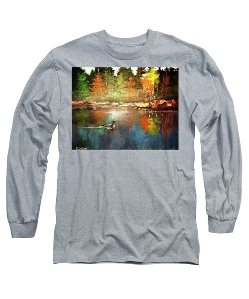 Autumn Lake Reflections Long Sleeve T-Shirt