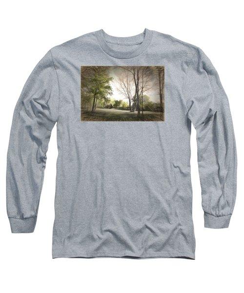 Autumn Landscape Long Sleeve T-Shirt by Rena Trepanier