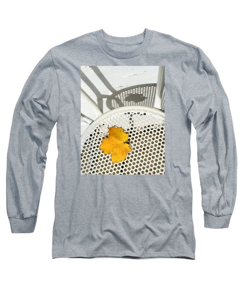Long Sleeve T-Shirt featuring the photograph Autumn Leaf And Shadows by Gary Slawsky
