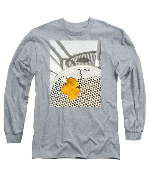Autumn Leaf And Shadows Long Sleeve T-Shirt by Gary Slawsky