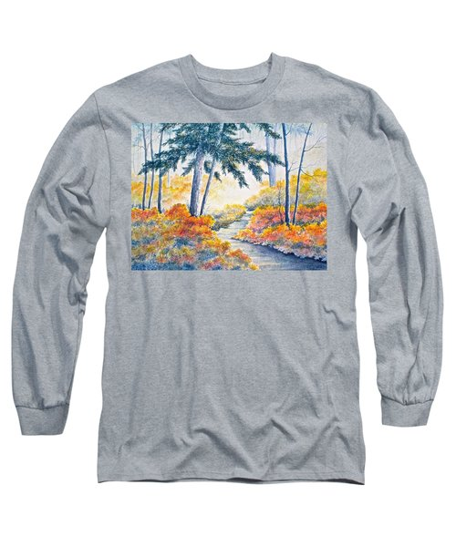 Long Sleeve T-Shirt featuring the painting Autumn Mist by Carolyn Rosenberger