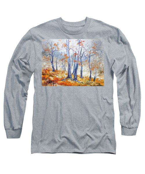 Autumn Mist - Morning Long Sleeve T-Shirt by Irek Szelag