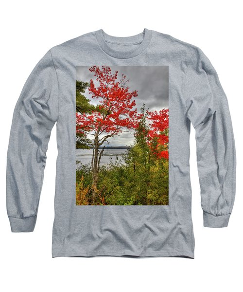 Long Sleeve T-Shirt featuring the photograph Autumn On Raquette Lake by David Patterson
