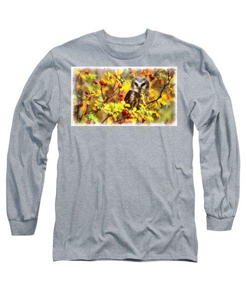 Autumn Owl Long Sleeve T-Shirt