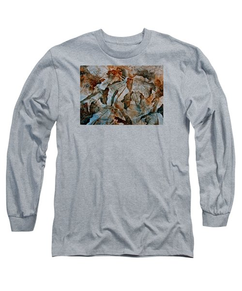 Long Sleeve T-Shirt featuring the painting Autumn Patterns by Carolyn Rosenberger