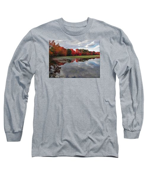 Autumn Reflections Long Sleeve T-Shirt by Mikki Cucuzzo