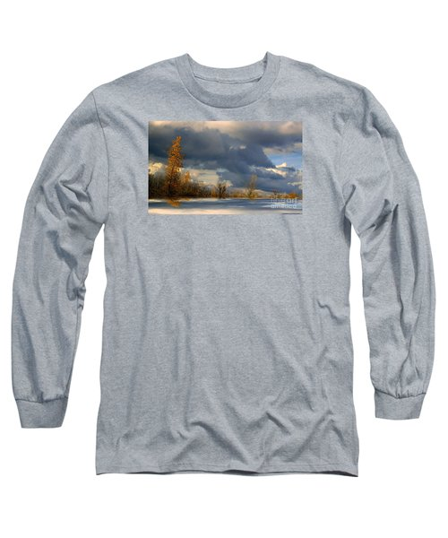 Long Sleeve T-Shirt featuring the photograph Autumn Skies  by Elfriede Fulda