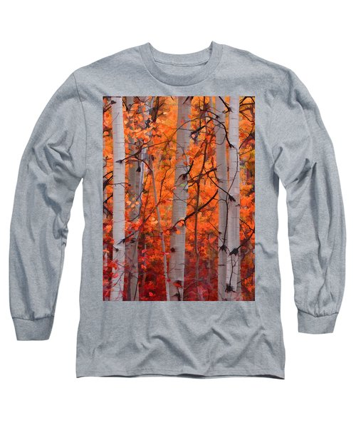 Long Sleeve T-Shirt featuring the photograph Autumn Splendor by Don Schwartz