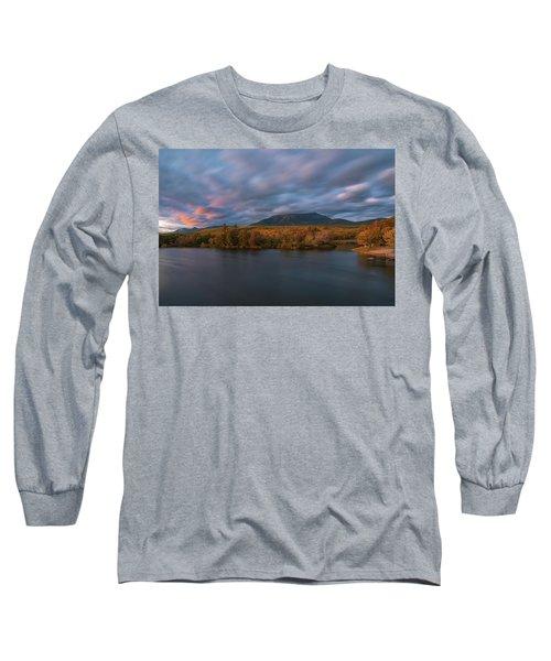 Autumn Sunset At Mount Katahdin Long Sleeve T-Shirt