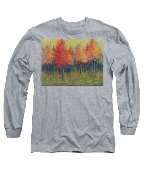Autumn's Glow Long Sleeve T-Shirt by Lee Beuther