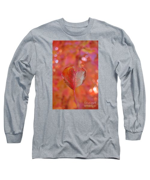 Long Sleeve T-Shirt featuring the photograph Autumn's Orange Elegance by Debra Thompson