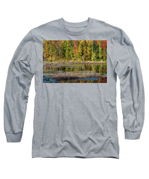 Long Sleeve T-Shirt featuring the photograph Autumns Quiet Moment by Karol Livote