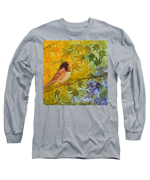 Long Sleeve T-Shirt featuring the painting Autumn's Song by Nancy Jolley