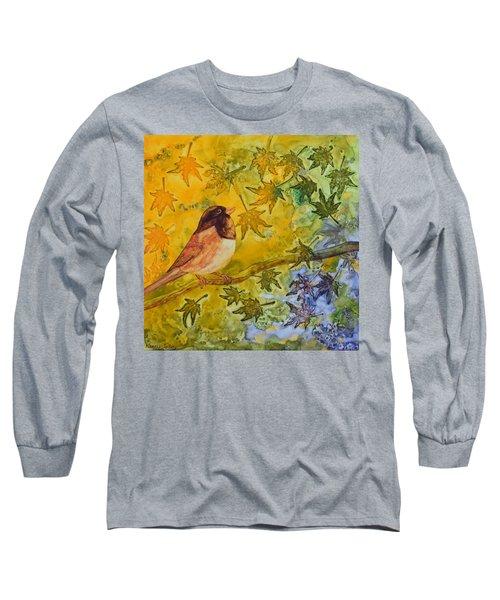 Autumn's Song Long Sleeve T-Shirt by Nancy Jolley