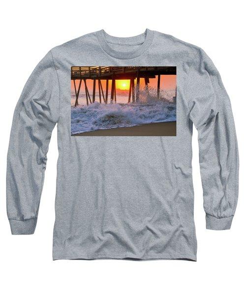 Avalon Fishing Pier Sunrise Long Sleeve T-Shirt