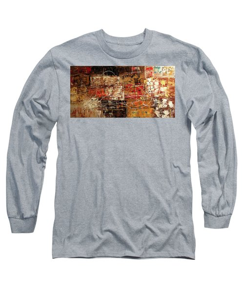 Long Sleeve T-Shirt featuring the painting Avant Garde by Carmen Guedez