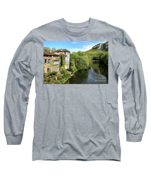 Aveyron River In Saint-antonin-noble-val Long Sleeve T-Shirt by RicardMN Photography