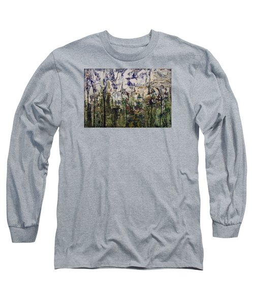 Long Sleeve T-Shirt featuring the painting Aviary by Ron Richard Baviello