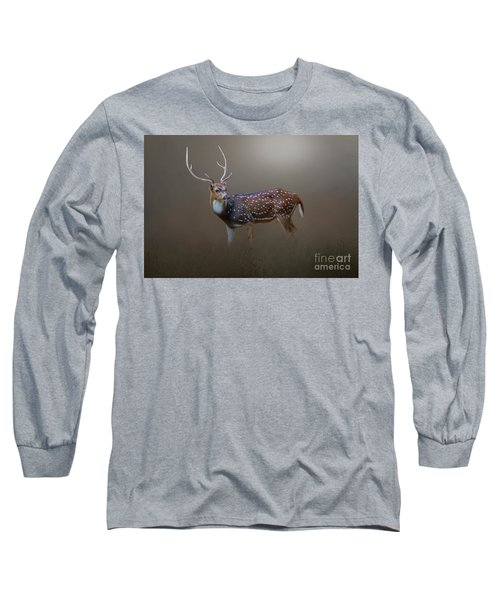 Axis Deer Long Sleeve T-Shirt by Marion Johnson