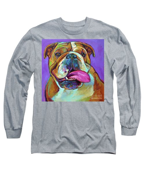 Long Sleeve T-Shirt featuring the painting Axl by Robert Phelps