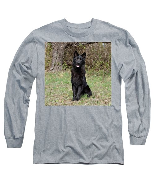 Long Sleeve T-Shirt featuring the photograph Aziza Sitting by Sandy Keeton