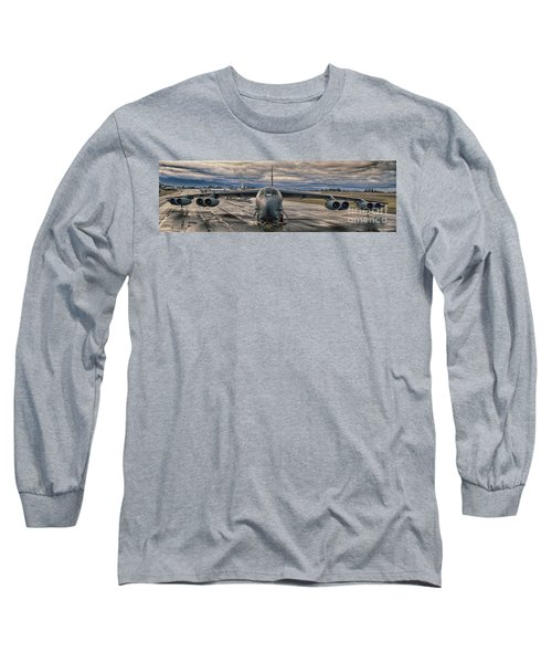 Long Sleeve T-Shirt featuring the photograph B-52 by Jim  Hatch