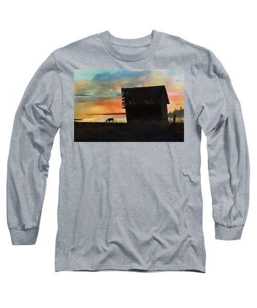 B. C. Barn # 1672 Long Sleeve T-Shirt by Ed Hall