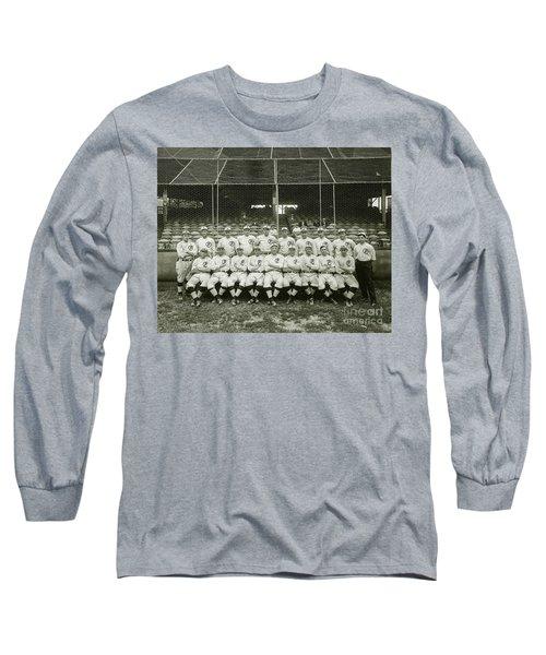Babe Ruth Providence Grays Team Photo Long Sleeve T-Shirt by Jon Neidert