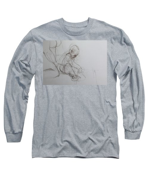 Baby, Drawing With Mother Long Sleeve T-Shirt