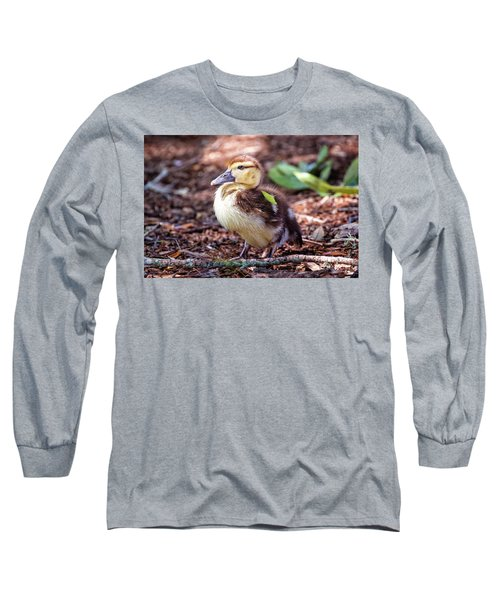 Baby Duck Sitting Long Sleeve T-Shirt by Stephanie Hayes